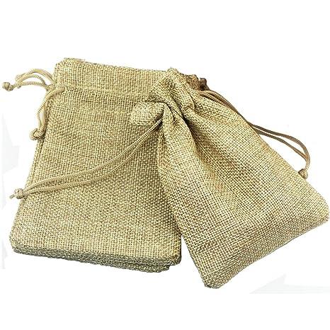 AIYoo - Bolsas de yute para boda con cordón para regalo con ...