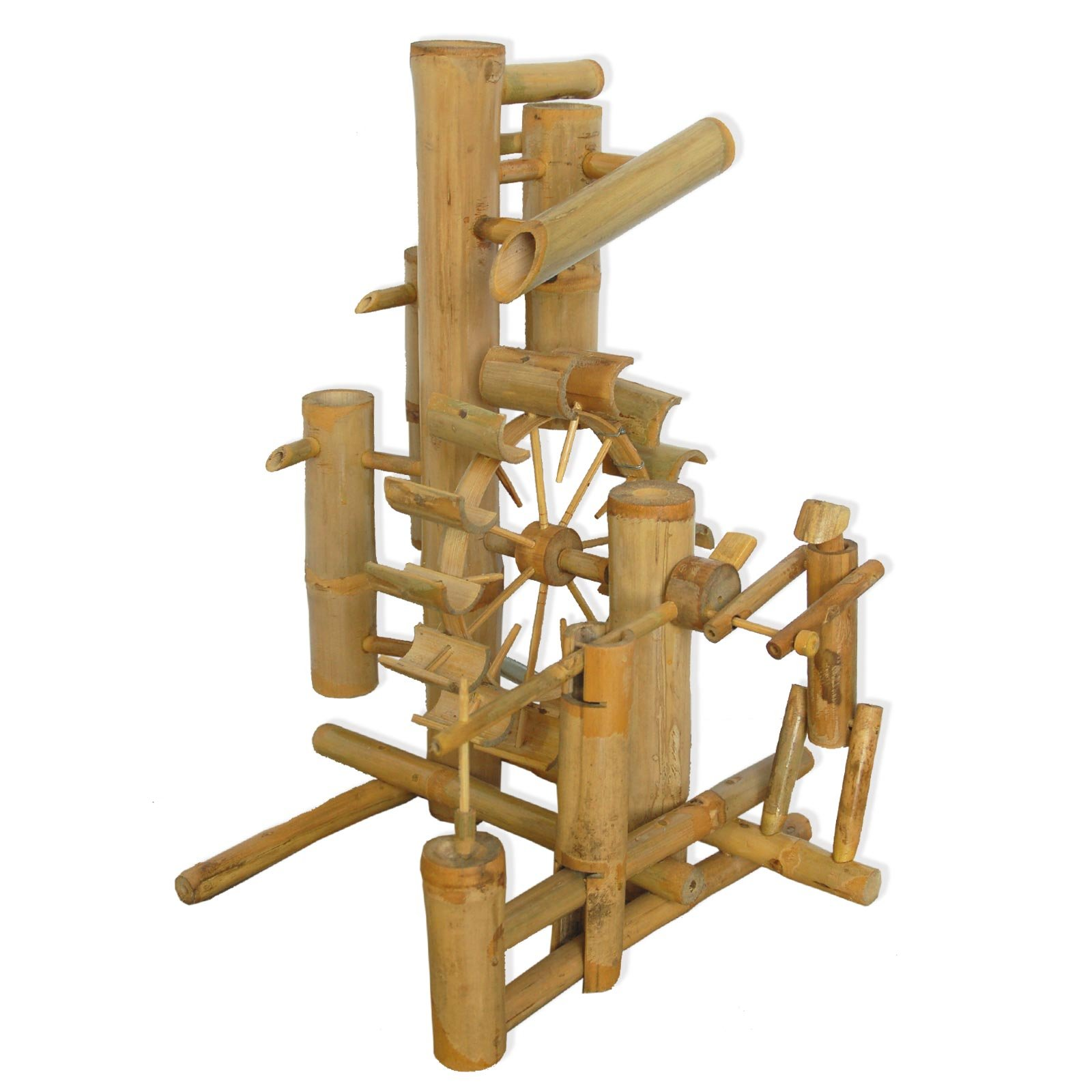 Bamboo fountain, water game, watefall, handmade, imported from Thailand (12039)