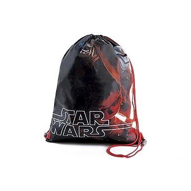 Disney - Mochila de cuerdas de Star Wars para niños (Talla Única/Negro/