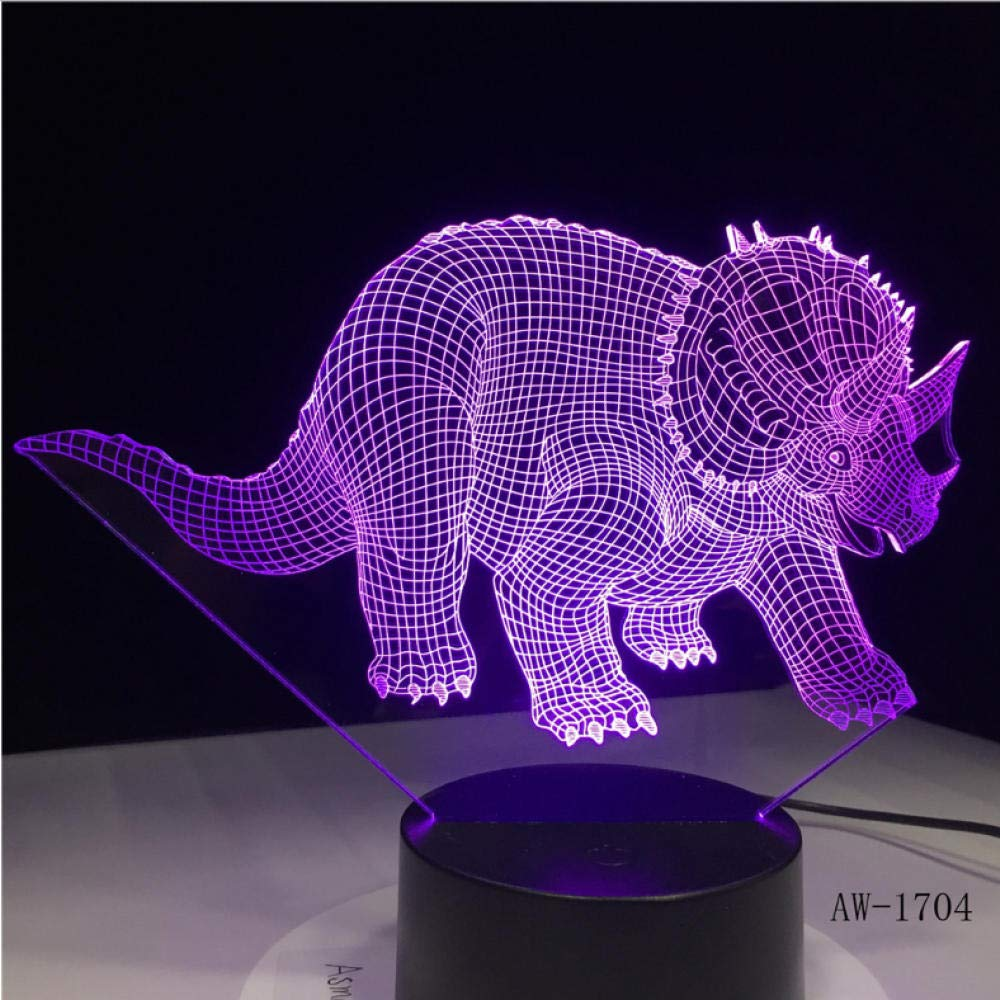 Night Lights for Kids Triceratops Anchiceratops Dinosaur USB Night Light Multicolor Lava Led Lighting Luminaria Table Kids Gifts Decorative