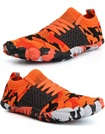 buy online 8e4e4 c57c3 WHITIN Unisex Wide Toe Minimalist Trail Running Barefoot Shoes