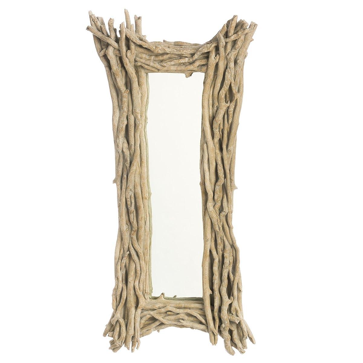 Cape Craftsmen White Driftwood Rectangular Wall Mirror