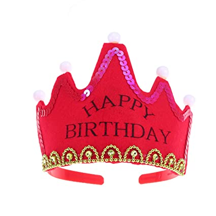 LUOEM Sombreros de Fiesta de cumpleaños LED Light Gorras de ...