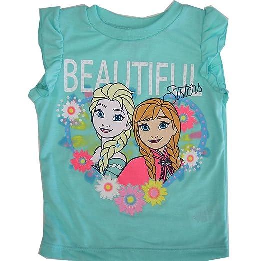 Tops & T-shirts Newgirlsdisney Frozenelsa Turquoise Shirt Top Size 4t