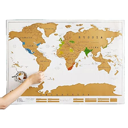 Large scratch off world map poster gold white wallpaper personalized large scratch off world map poster gold white wallpaper personalized travel gift gumiabroncs Images