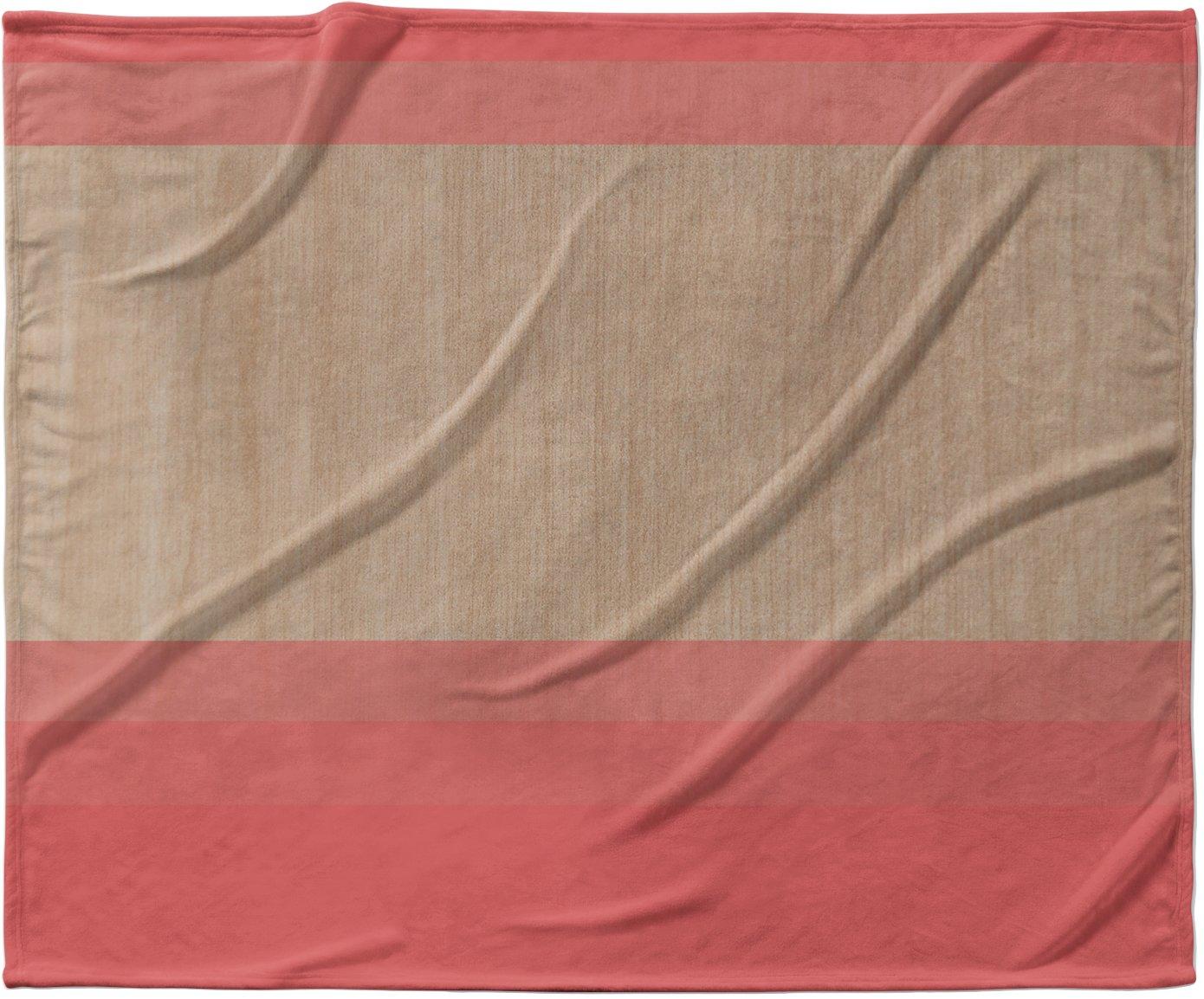 KESS InHouse Brittany Guarino ''Art Red'' Pink Wood Fleece Baby Blanket, 40'' x 30''
