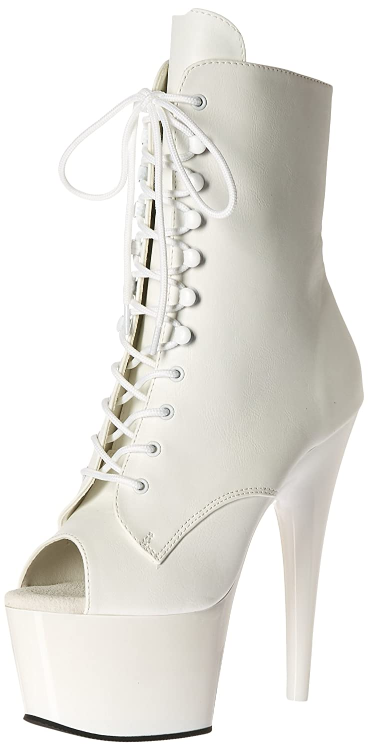 Pleaser , Leather/Wht bottes femme Wht Faux Leather , bottes/Wht 544239b - therethere.space