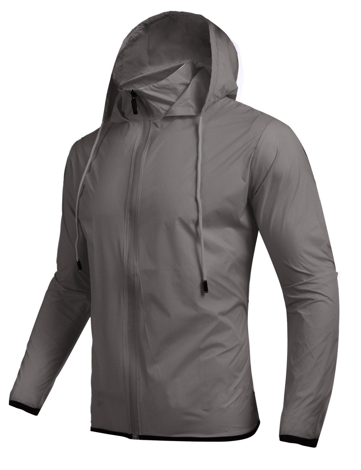 Jinidu Men's Cycling Skin Coat Jersey Bicycle Windproof Jacket Rain Coat (Medium, Light Khaki) by Jinidu (Image #3)