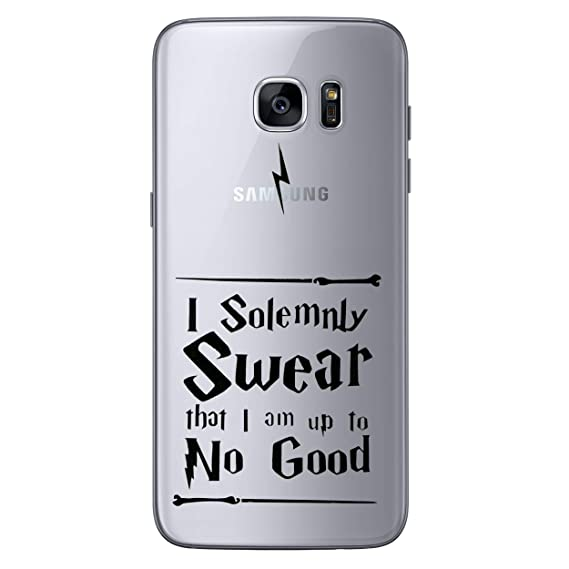 release date a8cad 2e163 Amazon.com: Galaxy S7 Harry Potter Quotes Silicone Phone Case/Gel ...