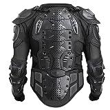 CHIMAERA Powersports Motocross Motorcycle ATV Dirt Bike Body Armor Protective Jacket Upper Body (Black) (X-Large)