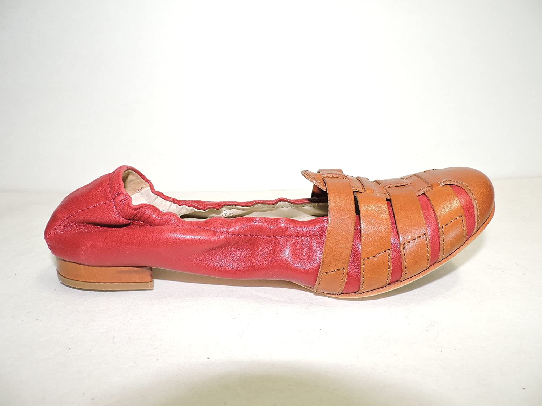 Attilio Giusti Leombruni AGL D502034 Womens Wine Red Suede Leather Cap Toe Ballet Flat Size EUR 36, USA 6 M