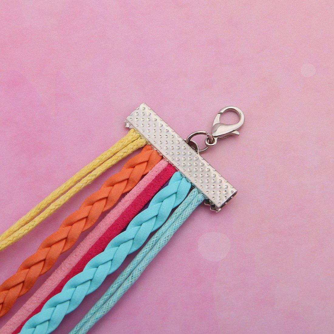 WUSUANED Infinity Love Rainbow Unicorn Bracelet Wristband Leather Rope Bracelet Horse Unicorn Lover Jewelry Gift for Women Girls
