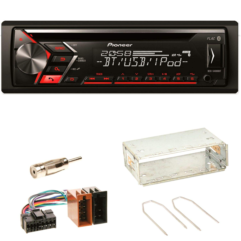 Pioneer DEH-S4000BT Autoradio USB AUX 1-DIN CD iPod MP3 Bluetooth WMA Einbauset fü r Renault Clio 1 2 Twingo ACR-Bad Hersfeld 97593