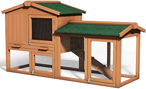 Amazon Com Tangkula Large Chicken Coop 58 Wooden Hen House