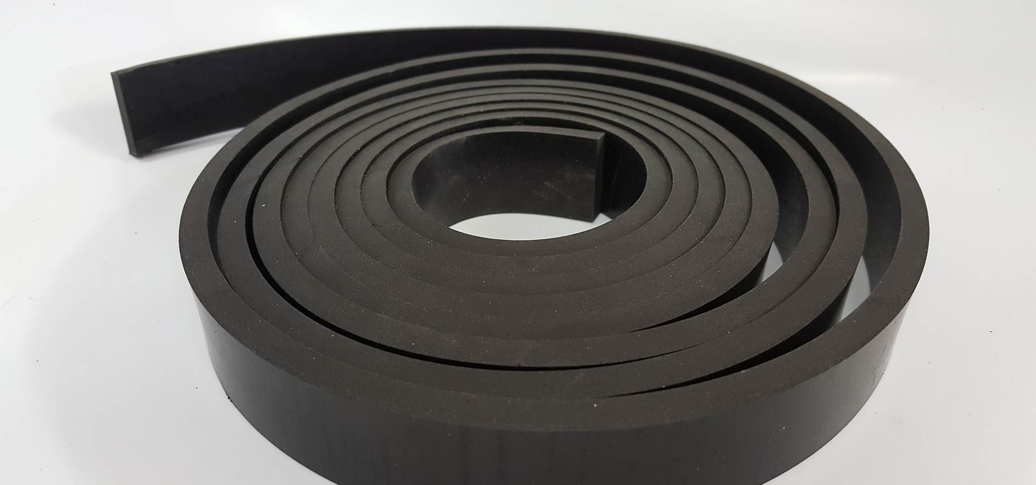 Neoprene Rubber Commercial Grade 65 A+/-5 .125'' Thick x 1'' Wide x 10' Feet Long