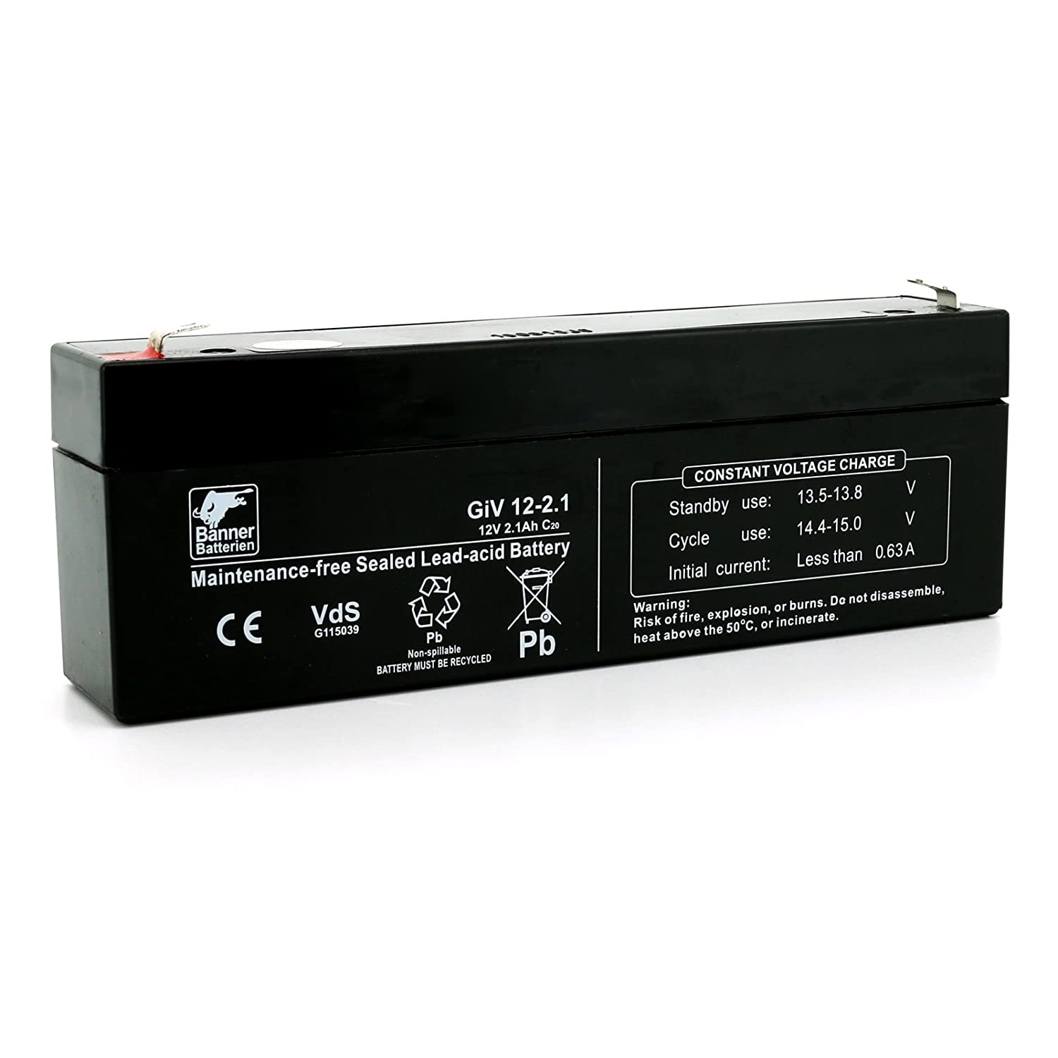 Banner Batterie Stand by Bull 12 Volt/2,1Ah Typ GiV 12-2.1