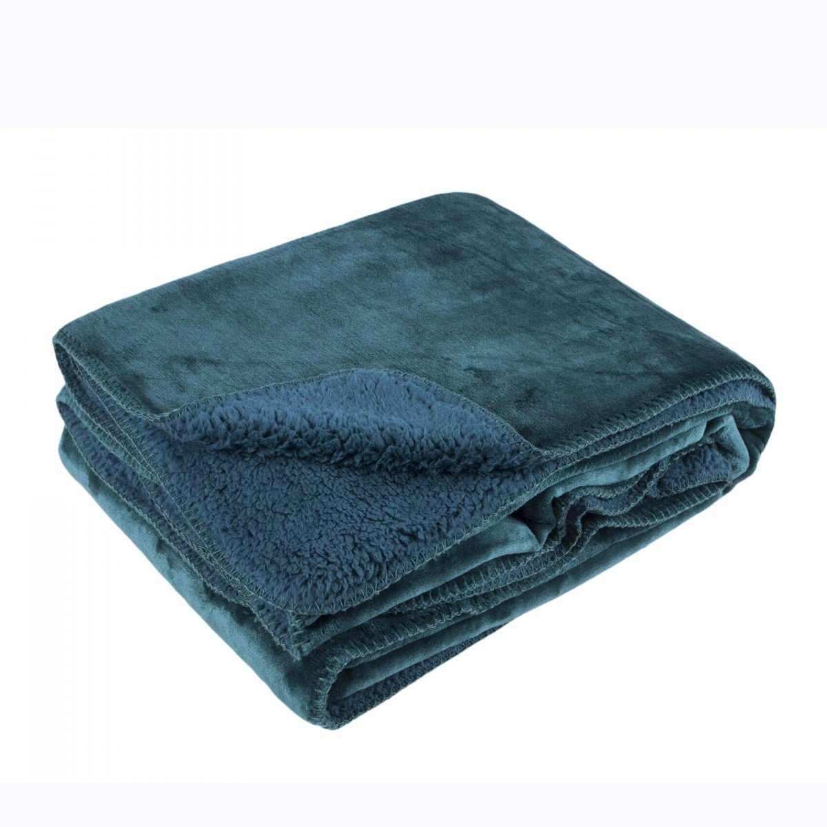 MALINI COSY BLANKET THROW IN PETROL GREEN 150X200CMS: Amazon.co.uk ...