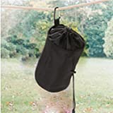 VEAMOR Clothespin Bag Hanging Clothesline Peg
