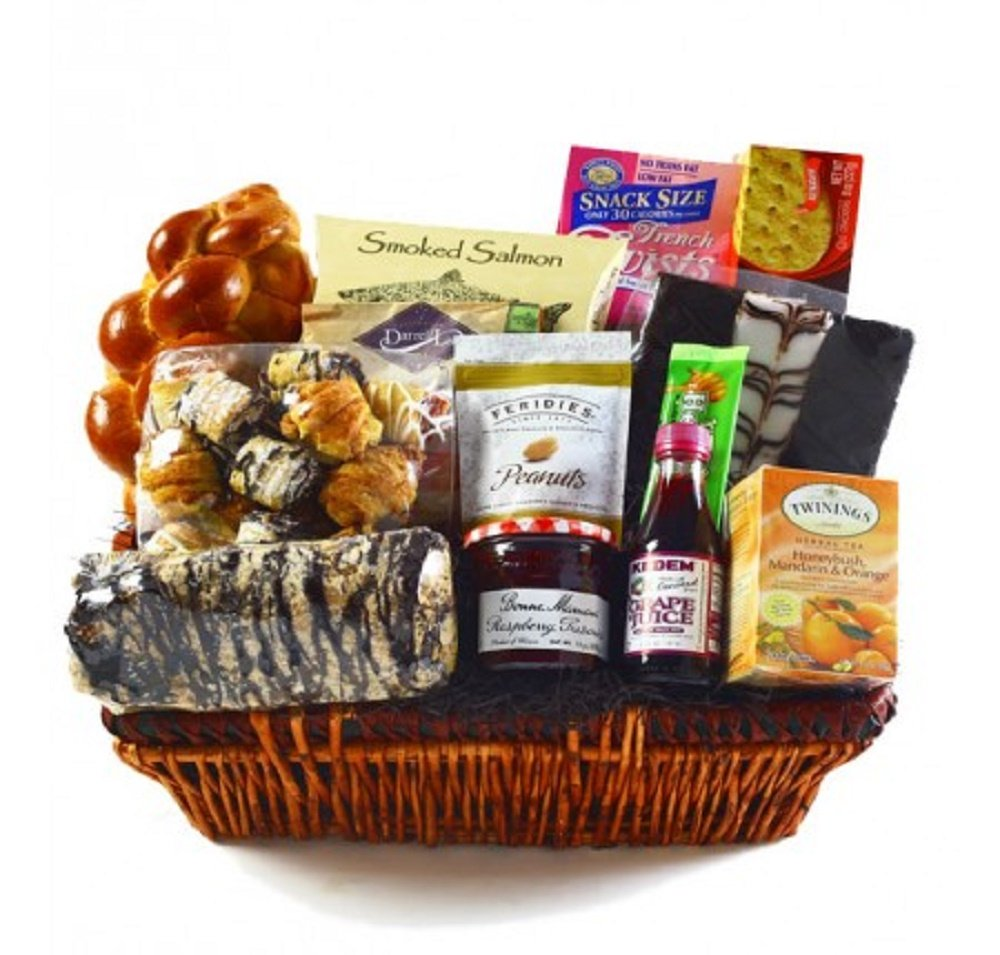 Kosherline Heartfelt Condolences Gourmet Shiva Kosher Gift Basket by Kosherline