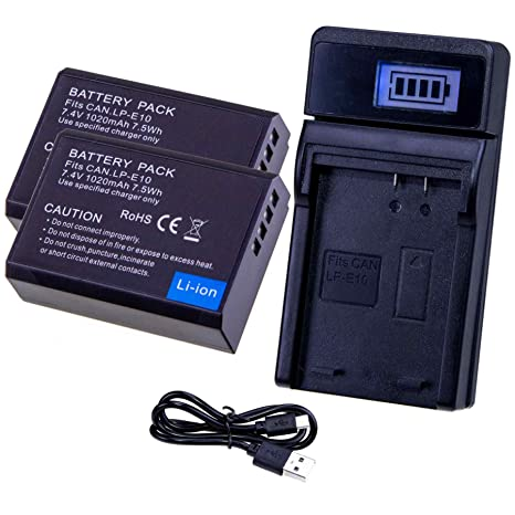 Lumos - Batería para cámara réflex Digital EOS 1300D, 1200D, 1100D ...