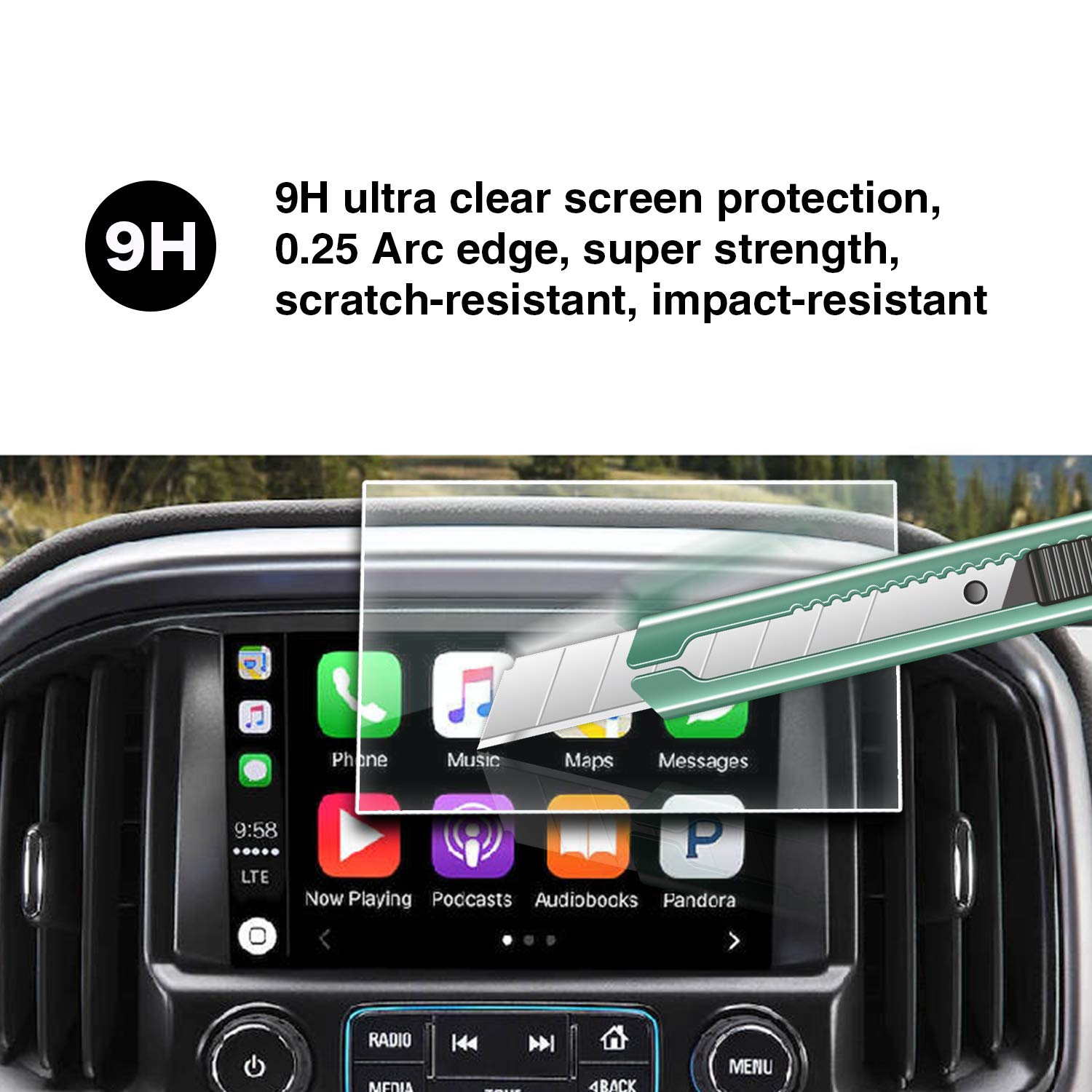YEE PIN LT Z71 ZR2 My Link 8 Inch Glass Toughened Film to Maintain a Smooth Touch Screen Free from Friction HXY
