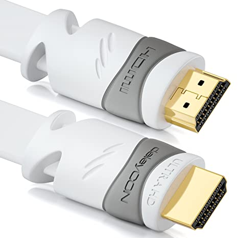 HDMI Cable 2.0b 4K Ultra HD 10m black High Speed with Ethernet channel high bandwidth 18 Gbit s Primewire UHD 2160p 60Hz 4x4x4-3D HDR ARC CEC HDCP