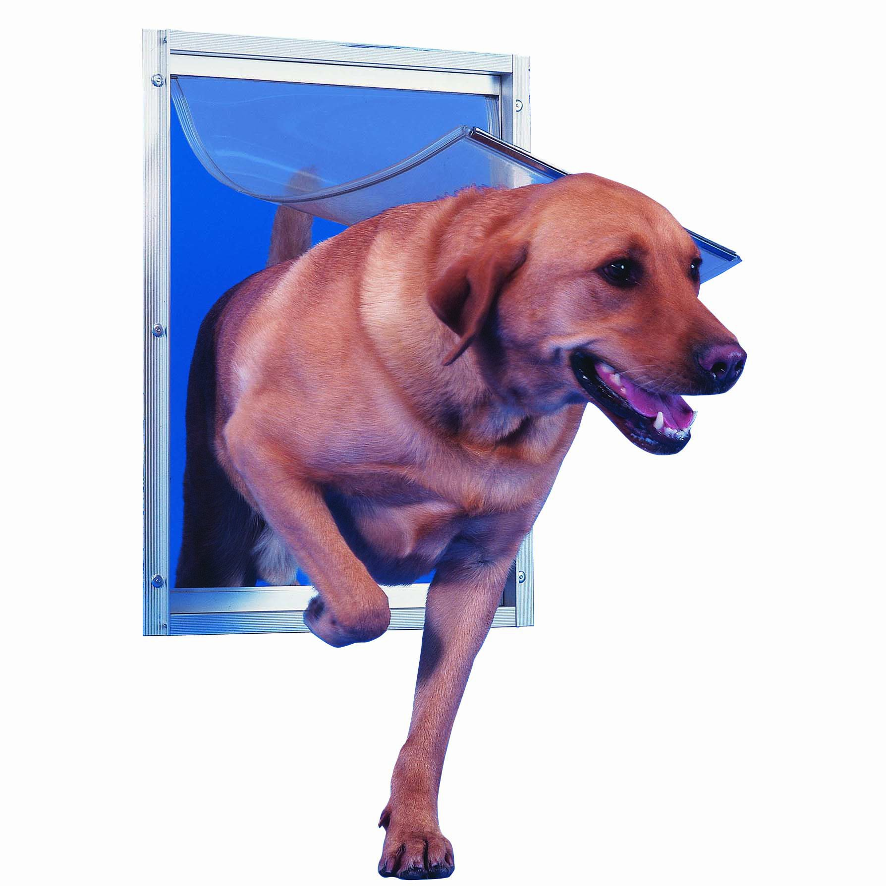 Perfect Pet Aluminum Pet Door, Extra Large, 10.5'' x 15'' Flap Size