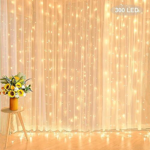 Curtain String Lights, 9.8 ft 300 LED