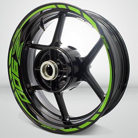 Matte Verde Ruote Moto Cerchione Decalcomanie Accessorio Adesivi per Kawasaki Z900