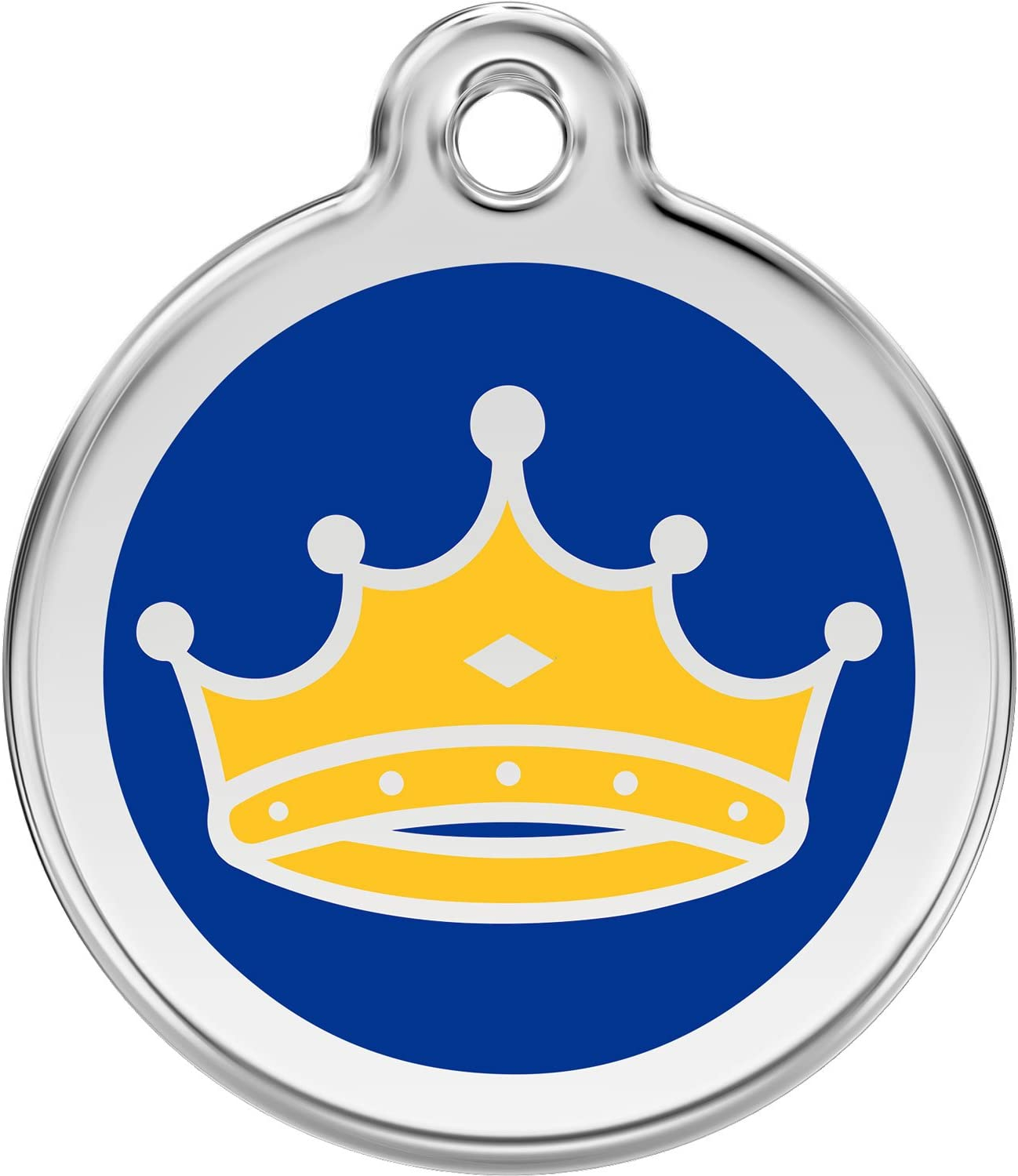 KING/'S CROWN Custom Personalized Pet ID Tag for Dog and Cat Collars