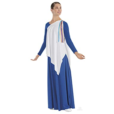 bcbf79cc4ab7c Image Unavailable. Image not available for. Color: Eurotard Womens Asymmetrical  Streamer Tunic ...