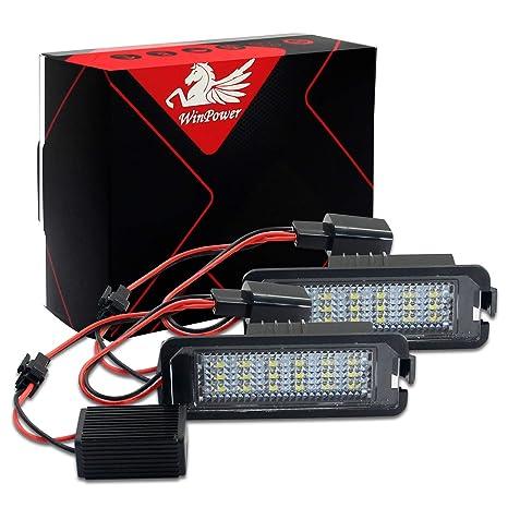 Win Power libre de errores 18 SMD LED licencia número placa luz Asamblea Blanca fría lámparas