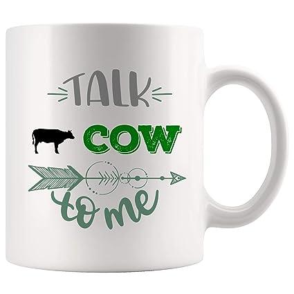Amazon com: Best Cow Mug Coffee Cup Tea Mugs Gift - Talk To Me My