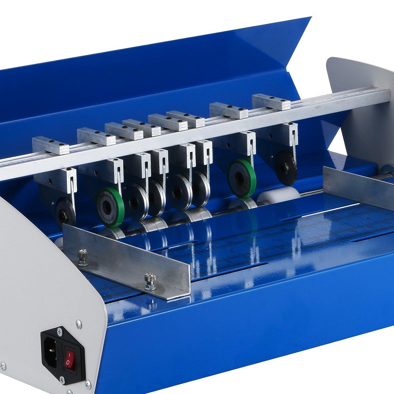 Happybuy Creasing Machine 20.5 Inch 520 mm Heavy Duty Metal Creaser Scorer 3 in1 Electric Paper Creaser for Paper Card Book Scoring Electric Creaser