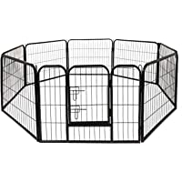 """24"""" Pet Playpen Dog Dence Exercise Pen, 8 Panel Pet Dog Playpen Puppy Enclosure Fence Play Pen, Indoor/Outdoor Foldable…"""
