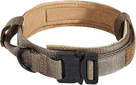 Petcomer Collar de Perro Ajustable Entrenamiento Militar Acolchado ...