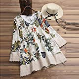 3/4 Sleeve Shirts for Women Summer Casual Lace Up