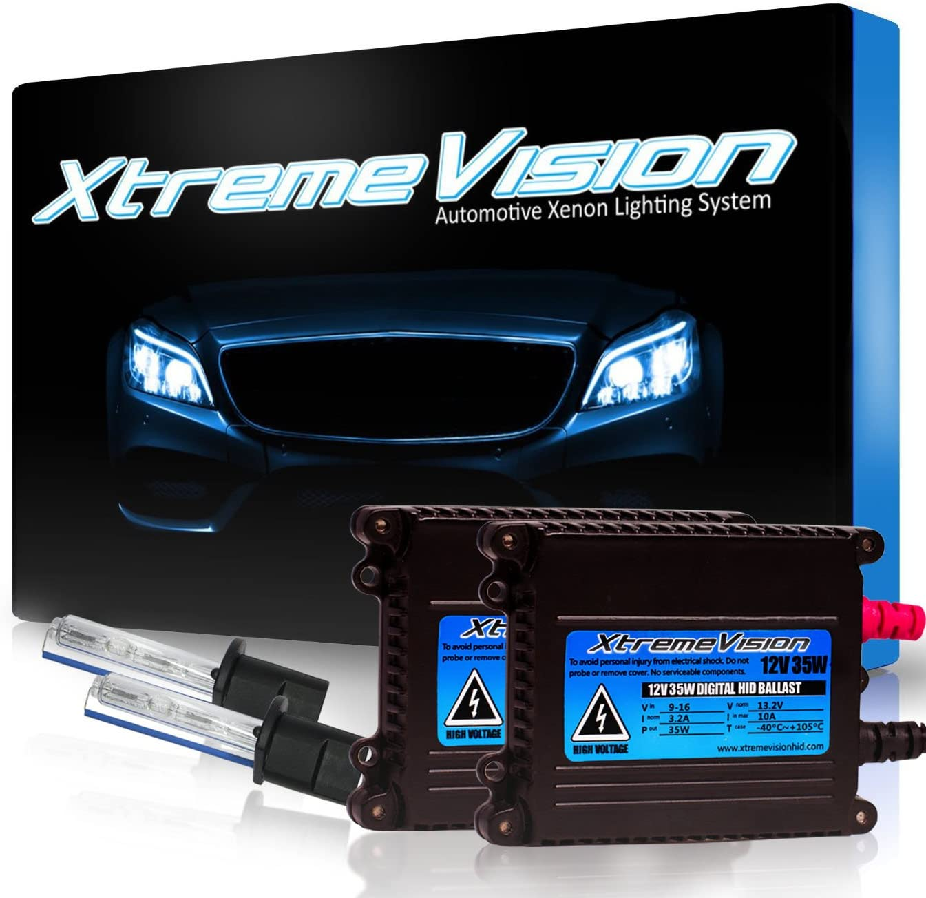30K Deep Blue 9005 30000K Xtremevision DC 35W Xenon HID Lights with Premium Slim Ballast 2 Year Warranty