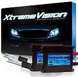 Xtremevision 35W Xenon Bundle with Slim Ballast (1 Pair) and H1 10000K - 10K Dark Blue Xenon Bulbs (1 Pair)