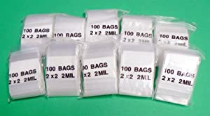 iMBAPrice 1000 - (2'' x 2'') Clear Reclosable Zipper Bags, Total 1000 Bags