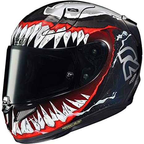 Amazon.com: HJC RPHA 11 Pro Helmet - Venom 2 (Small) (Black ...