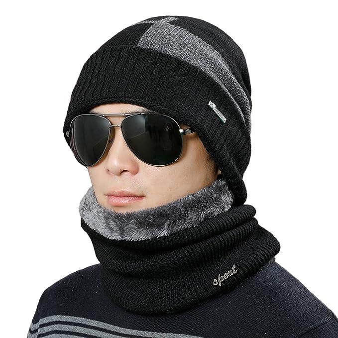 0953cb3278a30 Gorros De Lana Para Hombres Gorros De Lana Escarcha De Invierno Espesar  Esquí De Moda Deportes Al Aire Libre Negro Azul Marino Gris Oscuro