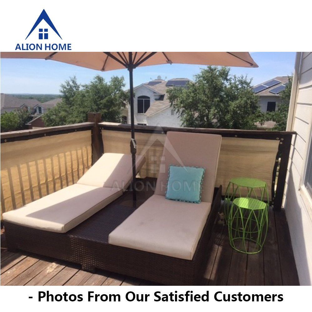 Amazon.com : Alion Home Heavy Duty Privacy Screen For Patio, Deck, Balcony,  Fence, Pool, Porch, Railing, Apartment Privacy  35 Inches Tall BEIGE(35u0027u0027 X  ...