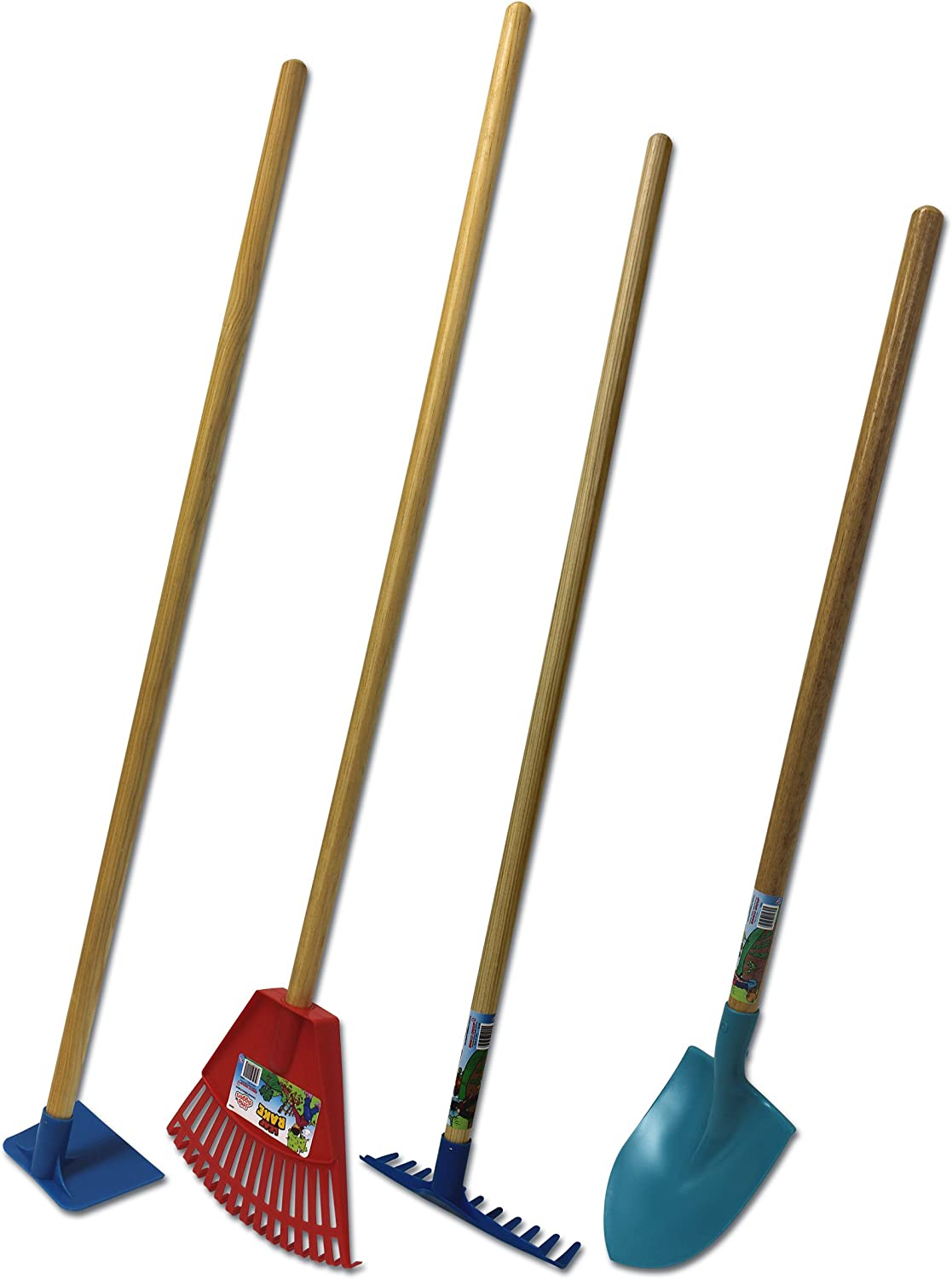 Emsco Group Little Diggers Kids Garden Tool Set Four-Piece Set Child Safe Tools Garden with Your Kids