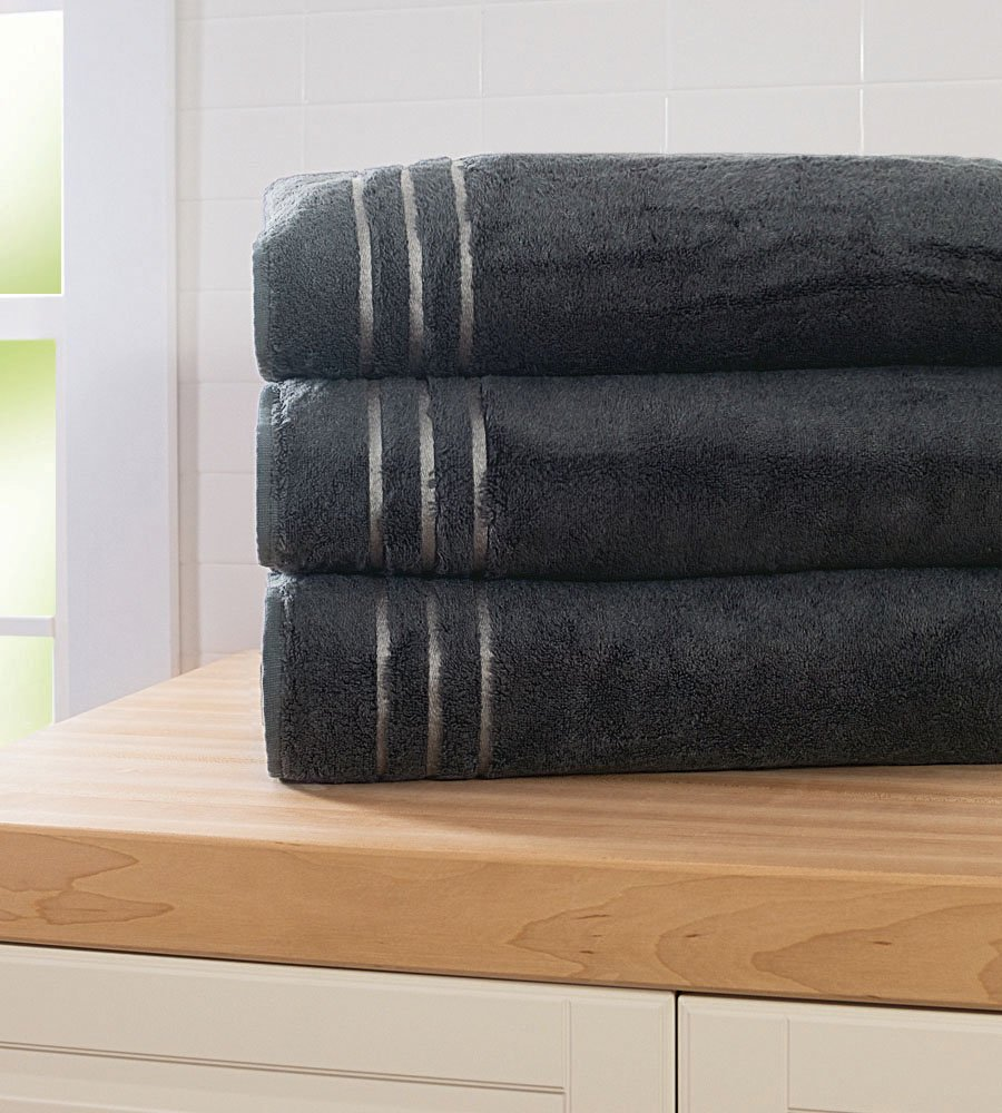 Cariloha Bamboo Bath Sheet by Highly Absorbent - Odor Resistant - Moisture Wicking (Graphite)