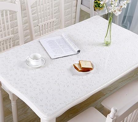 TYJY-tc - Mantel Rectangular de Cristal Suave, PVC, Impermeable ...