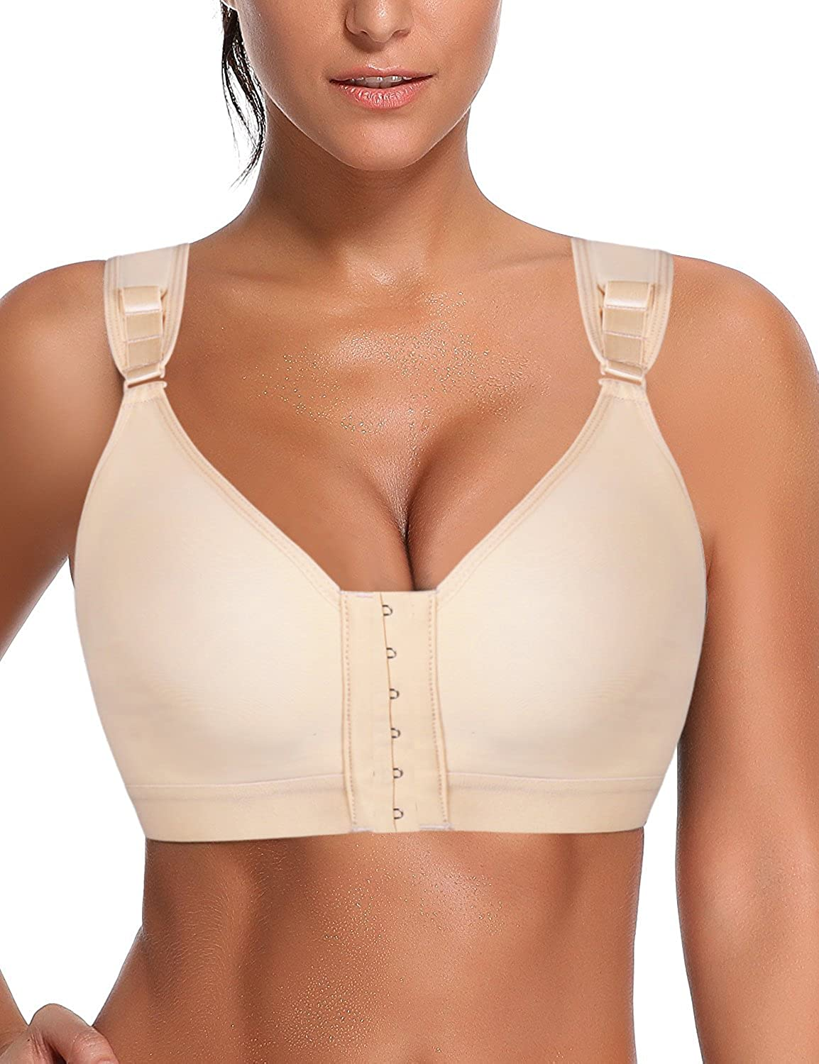 Kimikal Women Post-Surgery Front Closure Sports Bra