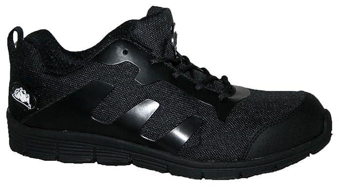 Zapatillas de seguridad de hombre Groundwork, ultraligeras, con puntera de acero, color Negro, talla 41.5
