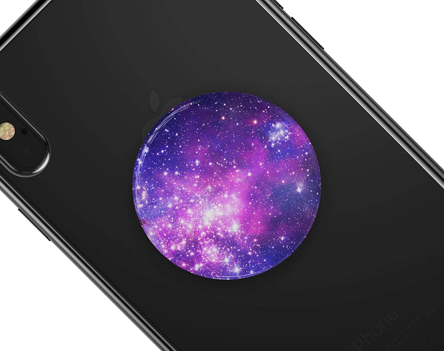 DesignSkinz Premium Decal Sticker Skin-Kit for PopSockets Smartphone Extendable Grip /& Stand Purple /& Pink Space