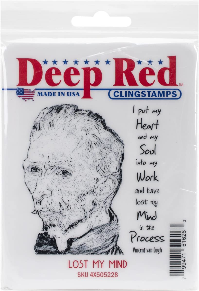 Deep Red Stamps Cling Lost My Mind Stamp 3 x 3
